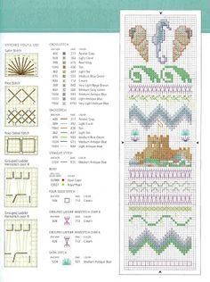 Free seashore Cross Stitch Patterns | free bookmark cross stitch patterns