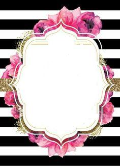 Floral Roses Mother's Day VectorStock Flower Wallpaper, Wallpaper Backgrounds, Wallpapers, Bridal Shower, Baby Shower, Invitation Background, Borders And Frames, Printable Designs, Flower Frame