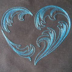 Design Information at KennyKreations - Beautiful Machine Embroidery: Feathered Hearts, Table Linen