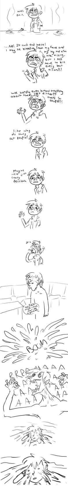 How Eren discovered his powers in the titan's stomach