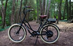 Pedego Step-Through being one with Mother Nature