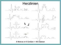 Herzlinien verschiedene Motive 48 Dateien