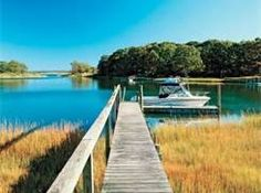 North Fork Long Island ~ dock, boat, bay