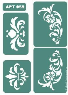 1000+ images about stencil art on Pinterest | Damask Stencil ...
