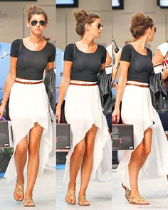 high low and crop top, simple and basic. Perfect for summer