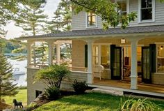 "Lakehouse!! love. ""and i want a big ol' porch that wraps around the entire house..."""