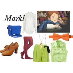 Markl- Howl's Moving Castle by animedowntherunway on Polyvore featuring T By Alexander Wang, Matthew Williamson, Sole Society, Bjørg, SELECTED, Aéropostale, Ghibli, women's clothing, women's fashion and women