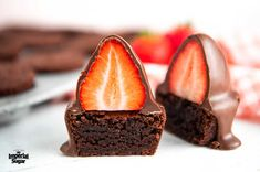 Chocolate Covered Strawberry Brownie Bites | Dixie Crystals
