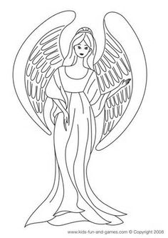 Angel Coloring Sheets