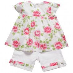 Emile et Rose Girls Floral Tunic Dress & Leggings Set at Childrensalon.com