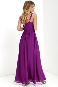 Show of Decorum Magenta Purple Maxi Dress at Lulus.com!