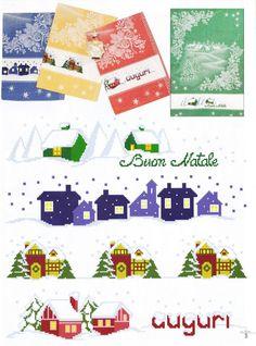 Cross stitch - dish towels - patrizia61 bordo per canovaccio natale a punto croce
