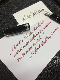 """""""Lernen ist wie Rudern..."""" - Schärfe deine Säge täglich!  Nota-Nobilis.at hat die richtige Tinte für Notizen und Gedanken, die Teil des Lernen sind. Die richtige Tinte ermöglicht ein unbeschreiblich  sanftes Gleiten der Feder über das Papier, und so vollkommen Konzentration auf die Gedanken! Kein Kugelschreiber, Tablet oder Gel-Stift kann das.  Überzeuge dich selbst und sichere dir dein Glas #Premiumtinte noch heute auf www.nota-nobilis.at  #pen #Premium #fountainpen #Füllfeder #Füller #ink"""