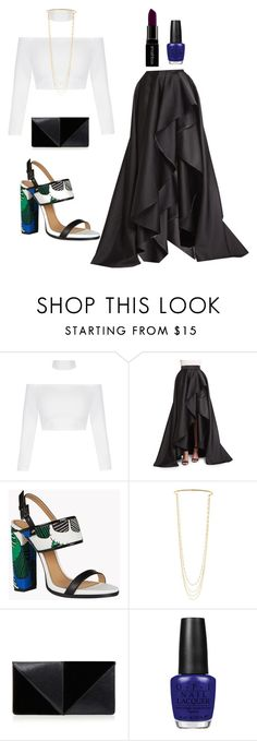 """""""Untitled #442"""" by thickgurlsrus ❤ liked on Polyvore featuring Monique Lhuillier, Dsquared2, Marc Jacobs, UN United Nude, OPI and Smashbox"""