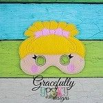 Lala  Mask 4 Embroidery Design - 5x7 Hoop or Larger