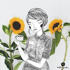 pausa para o café ❤ Cód. 0046 #aflorigrafia #maisflorporfavor #florigrafias