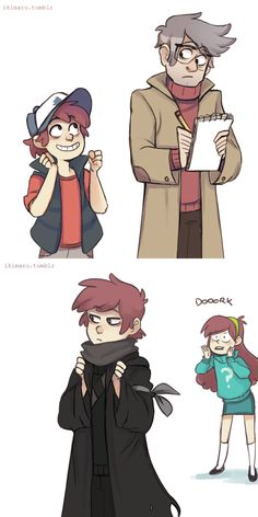 Gravity Falls // Dipper and Mabel Pines - Stanford Pines Gravity Falls Anime, Gravity Falls Funny, Gravity Falls Fan Art, Gravity Falls Dipper, Gravity Falls Comics, Gravity Falls Cosplay, Gravity Falls Fanfiction, Fall Anime, Monster Falls