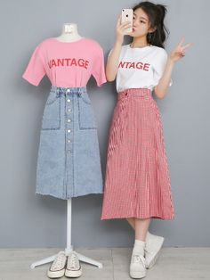 Curvy Girl Outfits, Petite Outfits, Korea Fashion, Asian Fashion, Matching Outfits Best Friend, Basic Wear, Cool Outfits, Fashion Outfits, Ulzzang Fashion