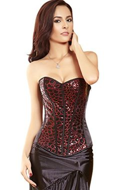 Kimring Women's Burlesque Glitter Sequin Evening Body Shaper Strapless Outerwear Corset Red Small Kimring http://www.amazon.com/dp/B00PFSXHIO/ref=cm_sw_r_pi_dp_Q24Xvb005YWVJ