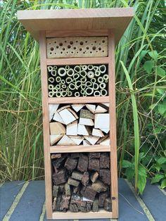 Bug & bee hotel made from Douglas fir