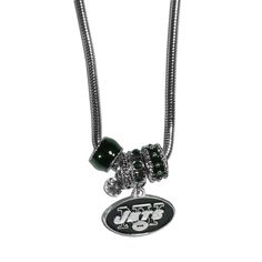 New York Jets Euro Bead Necklace