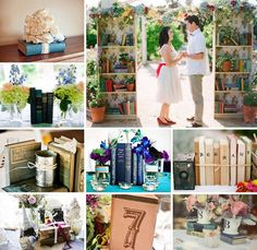 book themed weddings | Vintage Books at your #wedding. Rent our collection of vintage books ...