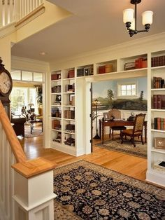 Built-ins make a nice room divider.