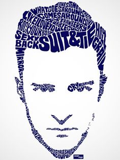 Pop Star Portraits Made From Their Famous Lyrics Typography nerds, you have designer Sean Williams to thank.
