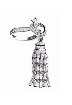 Années Folles white gold ring with baguette diamonds, Couture collection, Van Cleef & Arpels,