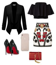 """Sin título #65"" by jocelin-cra on Polyvore featuring moda, Dolce&Gabbana, Christian Louboutin y Yves Saint Laurent"
