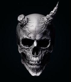 """ArtStation - Skull of the """"Oni"""", Tsuyoshi Nishimura"""