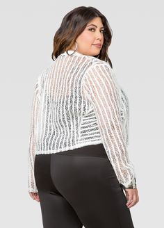 Leather And Lace Jacket - Ashley Stewart