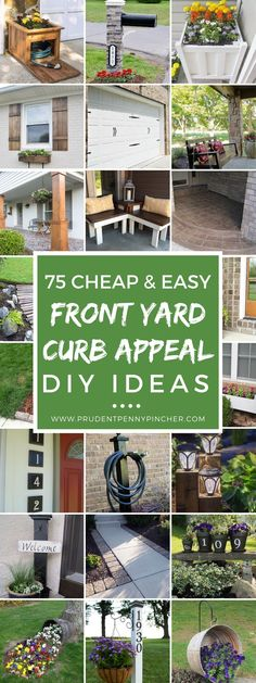 75 Cheap and Easy Front Yard Curb Appeal Ideas #Landscaping #GardenIdeas #DIY