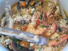 Seafood rice. #Seafood #Food #Foodie heaven only available in #Portugal. Try it at Restaurant O Convite in Fátima, Portugal