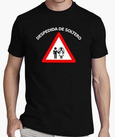 Camiseta despedida soltero señal peligro boda
