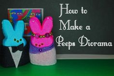 A thorough site with lots of practical tips for making a great Peeps diorama from start to finish. Simple and low-cost ideas for how to prepare Peeps, generate ideas, and make props and backgrounds. Shapes For Kids, Simple Shapes, 3d Shapes, Dog Crafts, Crafts For Kids, North American Animals, Diy Generator, Marshmallow Peeps, Peep Show