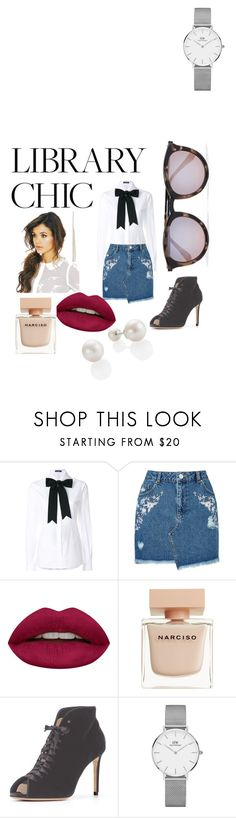 """love book"" by fall83 on Polyvore featuring moda, Dolce&Gabbana, Miss Selfridge, Huda Beauty, Narciso Rodriguez i Daniel Wellington"