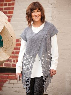 AA886005 - La Luna Cardigan - $6.99  This beautiful cardigan wrap is made using Tahki Yarns Cotton Classic Lite. The yoke section is worked top down, then the star motifs are worked as a separate section and attached to each other as you work. Once the motif section is complete, it is sewn to the last row of the yoke. Size: S (M, L, XL, 2XL, 3XL); use 9 (9, 10, 12, 13, 14) skeins of yarn. Model is made using color Pewter.  Skill Level: Intermediate  http://www.maggiescrochet.com/collections/...