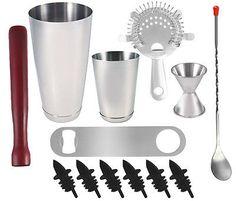 13 piece Professional Bartender Kit, Bartending Tools, Cocktail Shaker Set