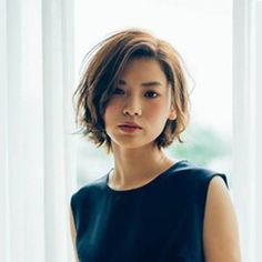 Asian Short Hair, Short Hair Cuts, Short Wavy, Short Blonde, Cut My Hair, Wavy Hair, Chin Length Haircuts, Medium Hair Styles, Short Hair Styles