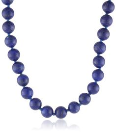 "{Quick and Easy Gift Ideas from the USA}  14k Yellow Gold 8mm Lapis Lazuli Bead Necklace, 17"" http://welikedthis.com/14k-yellow-gold-8mm-lapis-lazuli-bead-necklace-17 #gifts #giftideas #welikedthisusa"