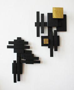 Geometric Shapes Art, Geometric Sculpture, Abstract Sculpture, Cardboard Sculpture, Wood Sculpture, Wall Sculptures, Modern Sculpture, Reclaimed Wood Wall Art, Wooden Wall Art