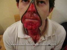 Coolest Zipper Face Costume: I decided to gore my boyfriend up this Halloween!  The inspiration for the idea came up when I was watching Halloween makeup tutorials and came across