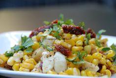 Corn paneer/tofu flavored with sun-dried tomatoes (protein rich vegetarian/vegan dish)