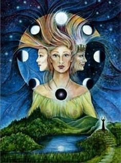 Triple Goddess/Hecate/ Maiden/ mother/ crone
