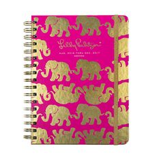2016-2017 Lilly Pulitzer Large Agenda - Pink Tusk in Sun by Lilly Pulitzer from THE LUCKY KNOT - 1