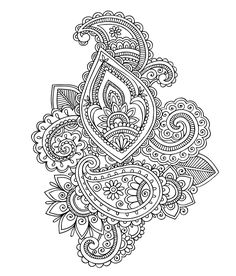 Free coloring page coloring-adult-paisley-cashemire. Paisley patterns called Cahemire in a difficult coloring page for adults, with oriental fragrance ...