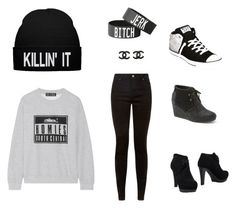 """""""ˇˇˇˇˇˇˇˇˇˇˇˇ"""" by tralalalalalal ❤ liked on Polyvore featuring Brian Lichtenberg, Chanel, Sergio Rossi, TOMS and Converse"""