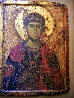 Άγιος Δημήτριος / Saint Demetrius Byzantine Icons, Byzantine Art, European Paintings, Orthodox Icons, Sacred Art, Art History, Saints, Religion, Sculptures