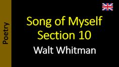Poetry in English - Sanderlei Silveira: Walt Whitman - Song of Myself – Section 10